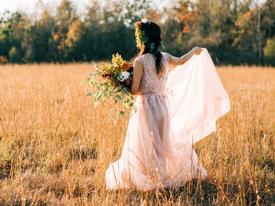 Sposa ninfa della natura trend 2021