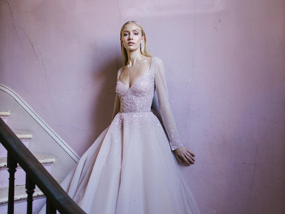 abiti da sposa pastello