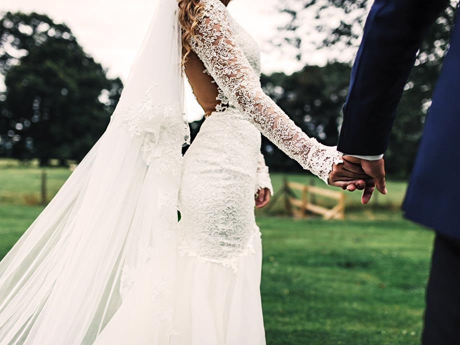 pizzo tessuto abiti da sposa 2021